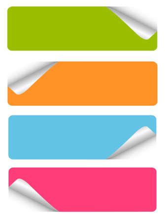etiquette: set of blank stickers