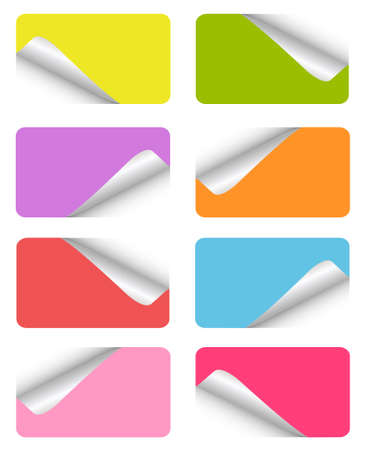 set of blank stickers Stock Vector - 8852870