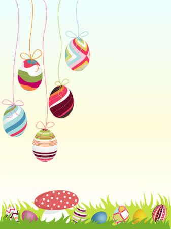 4월: happy easter background, eggs