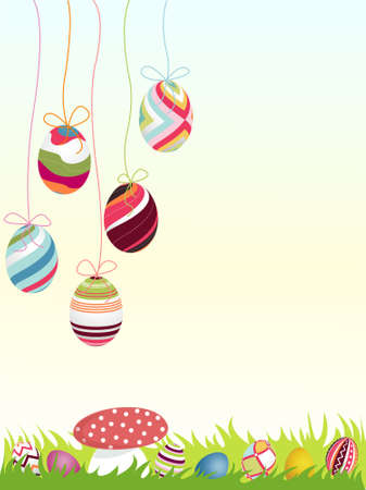 belle: happy easter background, eggs