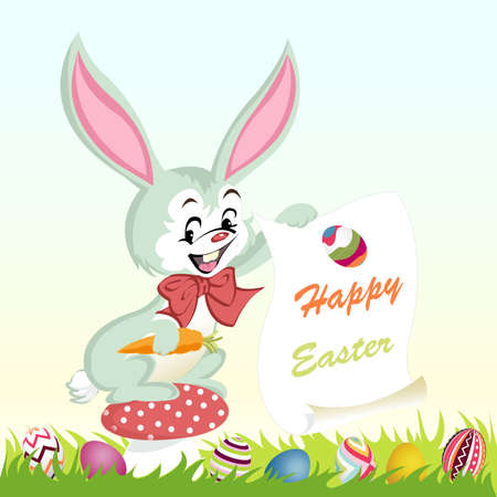 happy easter background, eggs Vector