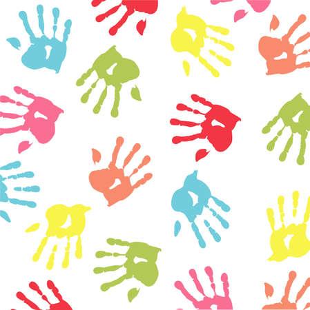 colorful handprint Stock Vector - 8921233