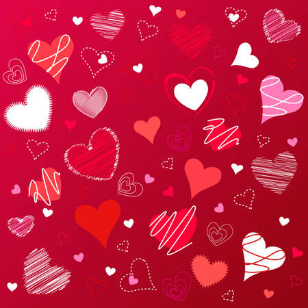 hearts valentines icons, wallpaper Vector