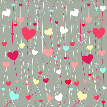 hearts valentines icons, wallpaper Illustration