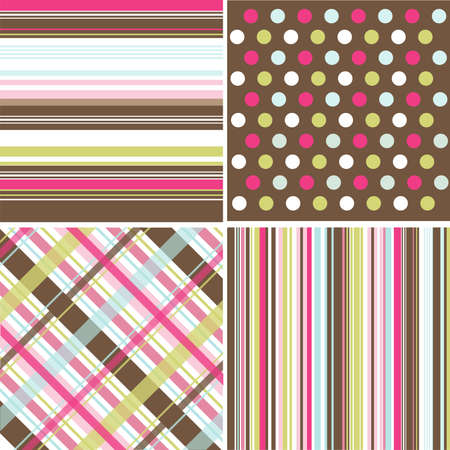 seamless patterns with fabric texture Stock Vector - 9099444