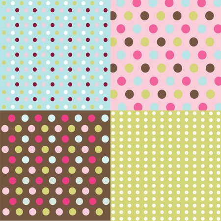 seamless patterns, polka dots set Stock Vector - 9099448