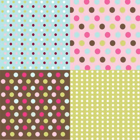 seamless patterns, polka dots set Stock Vector - 9099448