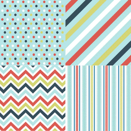 seamless patterns with fabric texture Stock Vector - 9099451