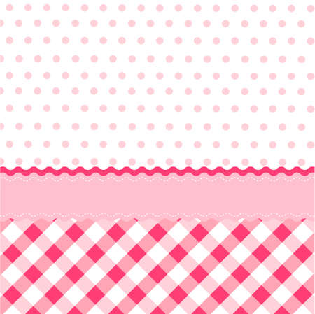 seamless baby girl pattern, wallpaper Vector