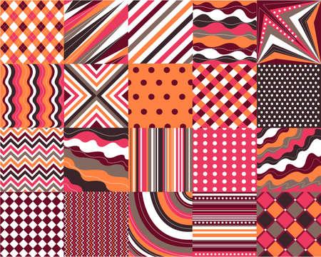 patrones transparentes con textura de tejido Vectores