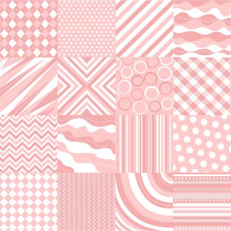 patrones de rosados transparentes con textura de tejido Ilustración de vector
