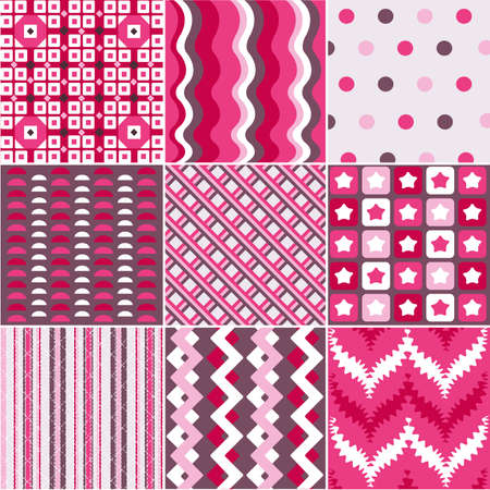 seamless patterns with fabric texture Stock Vector - 9282037