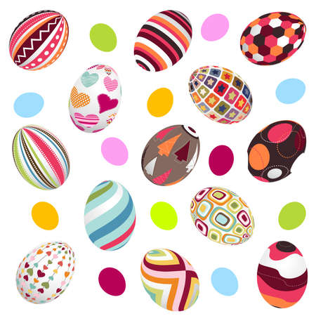 easter, eggs background Vector