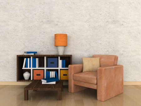 Interior of the modern room, study room