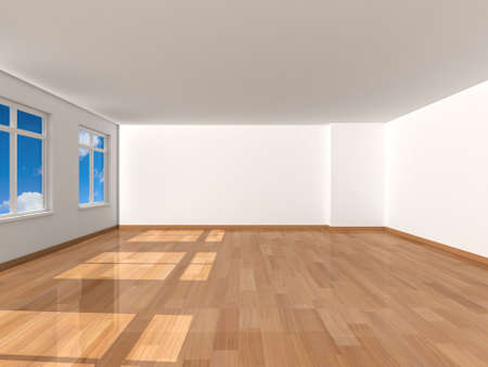 3d rendering the empty room photo