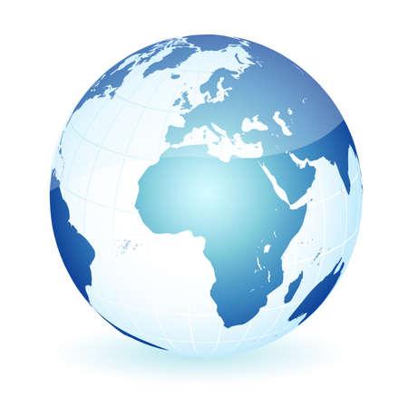 conciencia moral: Tierra de planeta global del mundo Vectores