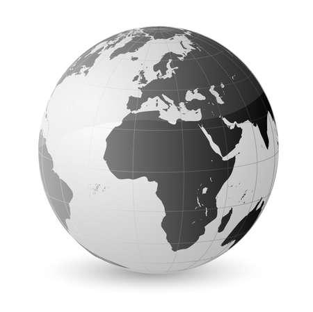 World global planet earth Vector