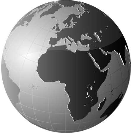 conciencia moral: Icono de mundo global del planeta tierra
