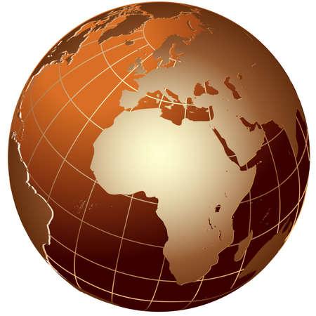 World global planet earth icon Vector
