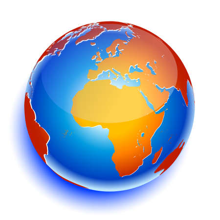 World global planet earth icon Vector