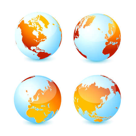 lozenge: World global planet earth icons