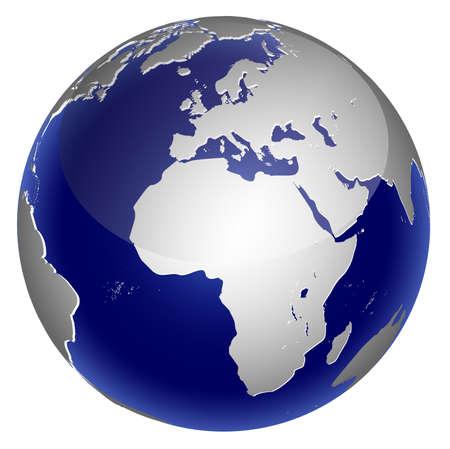 globo terraqueo: Icono de mundo global del planeta tierra