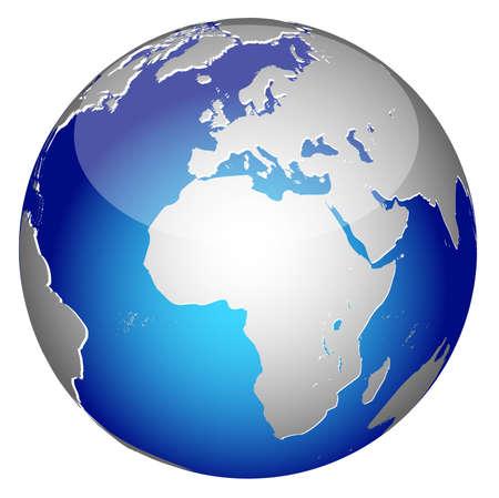 Åšwiatowej globalnego Planeta Ziemia ikonÄ™ Ilustracje wektorowe