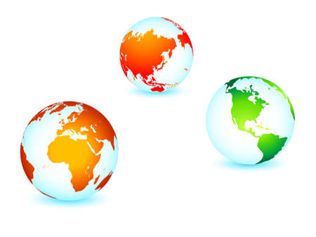 World global planet earth icons Vector