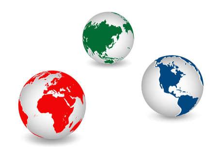 equator: World global planet earth icons