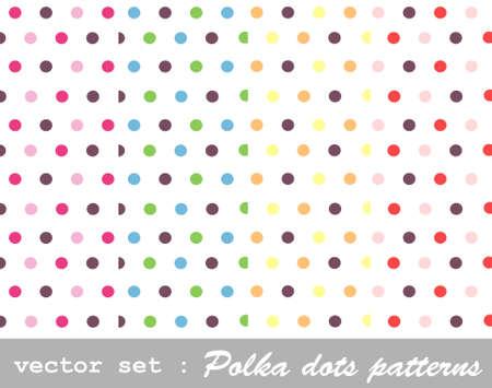 seamless patterns, polka dot set Stock Vector - 9469280