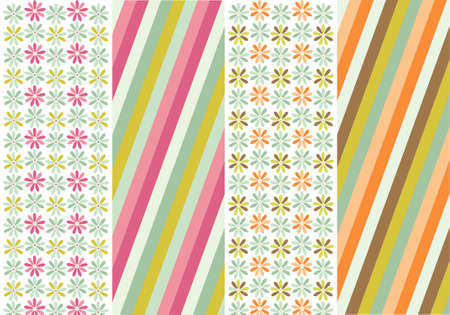 seamless patterns with fabric texture Stock Vector - 9469284