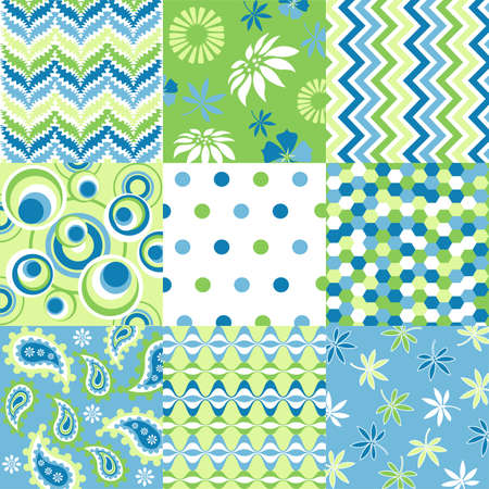 seamless patterns with fabric texture Stock Vector - 9469283