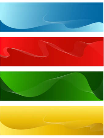 horizontal: horizontal line banners Illustration