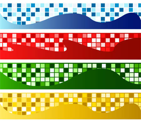 horizontal mosaic banners Stock Vector - 9469276