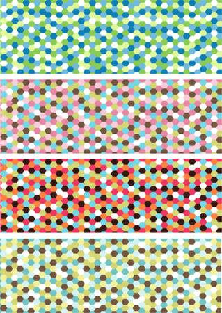 horizontal mosaic banners Vector