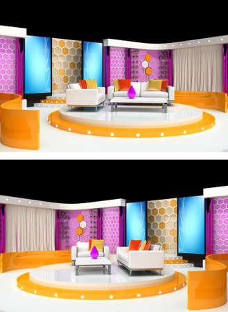 tv studio design Stock Photo - 9999542