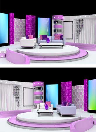 tv studio design Stock Photo - 9999541