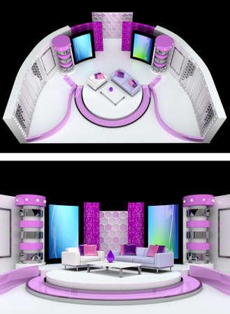 tv studio design Stock Photo - 9999539