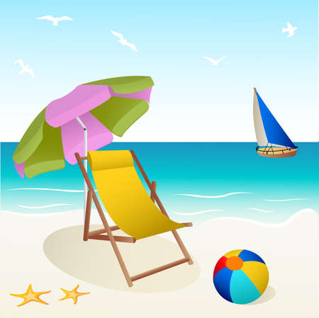starfish beach: beach Illustration