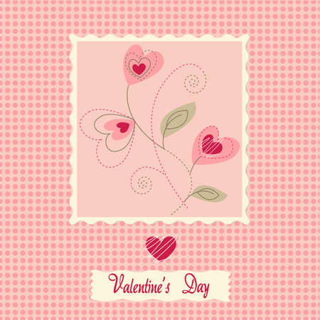 flowers card, valentine's day Stock Vector - 10108095