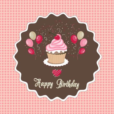 verjaardag frame: happy birthday card