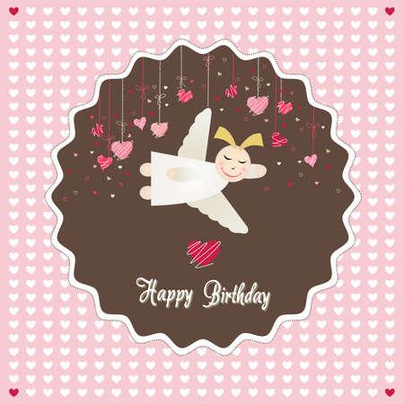 angel birthday: happy birthday card