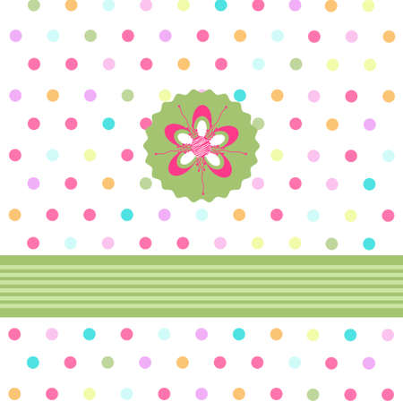 floral card, greeting card Vector
