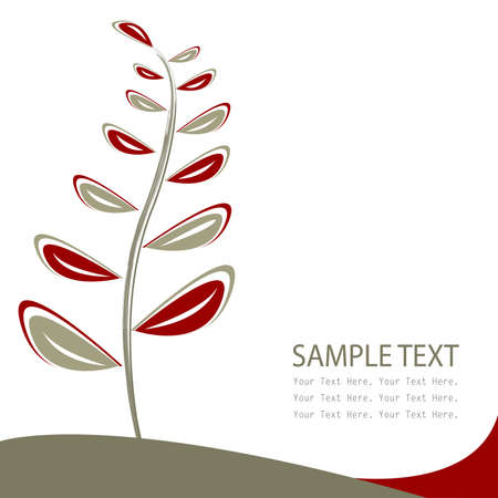 fabric samples: floral card, greeting card