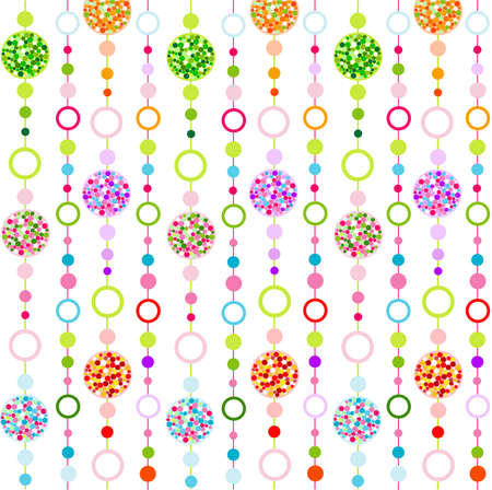 seamless colorful pattern with little circulars Illustration