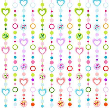 patrón transparente con pequeños corazones