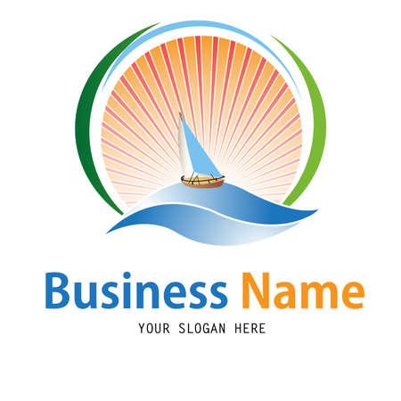 sea mark: Business yacht logo design