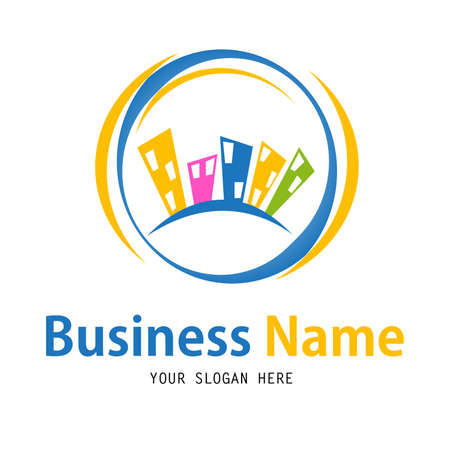 Business house logo design Vector