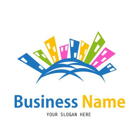 slogan: Business house logo design Illustration