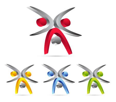 figure logo: dise�o de iconos de negocios Vectores